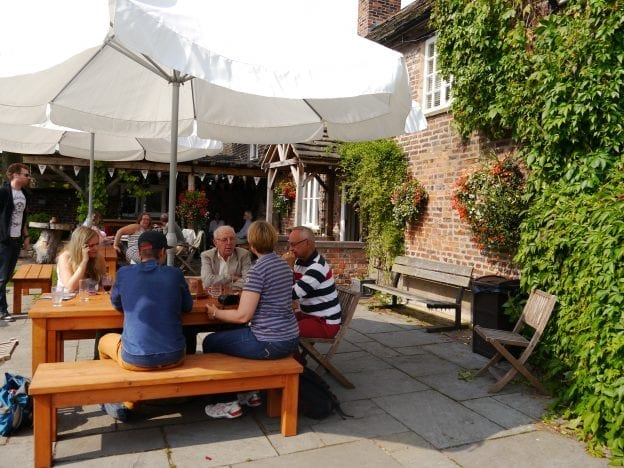 Harrington Arms Beer Garden, Gawsworth