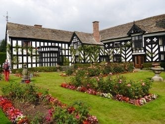 Black and White Gawsworth Hall and Garden