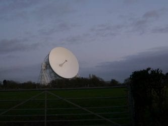 Jodrell Bank at dusk