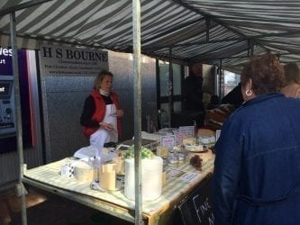 Cheese stall at Macclesfield Treacle Market